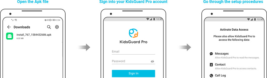 Steps to download KidsGuard