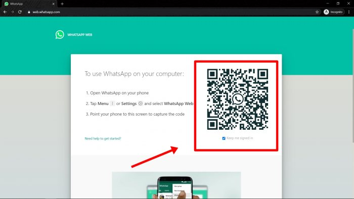 Login to WhatsApp Web without them knowing 1